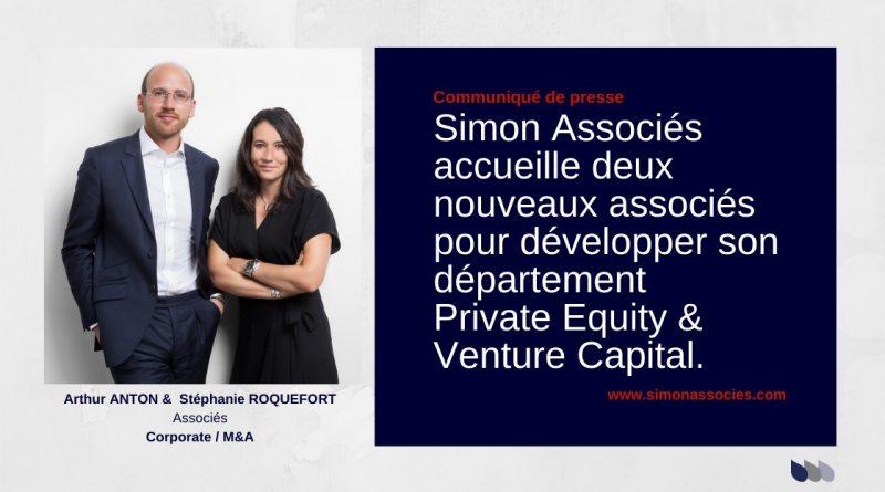 Simon Associés accueille deux nouveaux associés pour développer son département Private Equity et Venture Capital